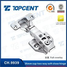 35mm cup full-overylay 3D furniture under cabinet hinges