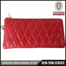 New design clutch Lambskin material latest clutch purses