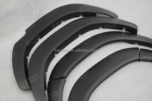 TOYOTA HILUX wheel arch fender flare injection molding ABS plastics side guard wheel cover black fender flare