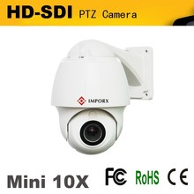 New Products Long distance transmission 10X optical zoom Mini Dome HD 1.3 Megapixel hdsdi PTZ Camera