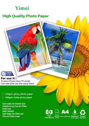 90g -260g single side high Glossy photo paper with good quality