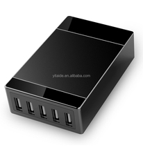 40W 5Ports Hand Hold Charger Best Travelling Charger Power Station for iPad&Smartphone Powerful USB Charger
