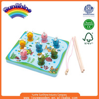 2015 New Hot Sell Wooden Fishing Toy EN71 ASTM standard 3D Puzzles ESMY0036