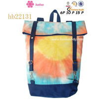 Special process dyeing backpack for girls