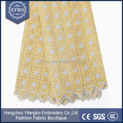 2015 hot selling new design african guipure orange indian lace embroidery fabric nigerian cord lace for wedding