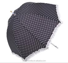 sun umbrella rain umbrella black dot