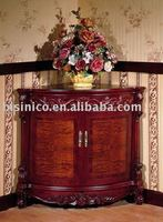 antique french solid wood corner cabinet B46102 ancient chinese style and french style home furniture