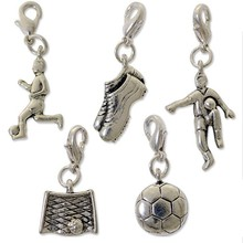 2015 unique lot charm sets football theme jewelry findings for bracelet
