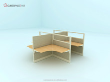 office furniture front desk manufacturers for 4 people