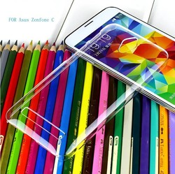 Ultra Thin Transparent Clear Plastic Cell Phone Case For Asus ZenFone C