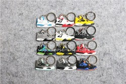 Mini air jordan running shoes keychain