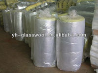 Fireproof and Soundproof glass wool insulation blanket with Alum.foil