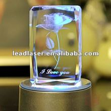 2015 3D laser engraved crystal wedding gifts