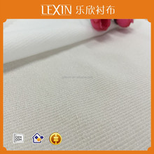 100% Polyester warp knitted interlining for fashion cloth woven warp knitted interfacing for garments accessories warp knitted