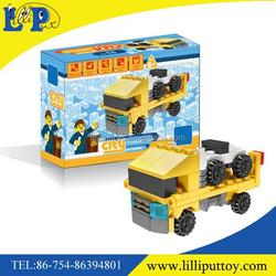 Plastic building blocks truck toys series cars trucks