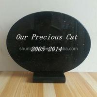 Black Granite Pet Memorial