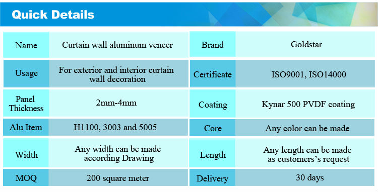 8Curtain wall aluminum veneer