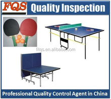 Professional Quality Inspection service for table tennis/ table tennis table/ table tennis equipment