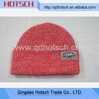 Winter warm beanie hat with two balls