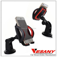 Vesany Most Popular 360 Rotating Silicone Suction Cup Universal One Touch Cell Phone Holder Car