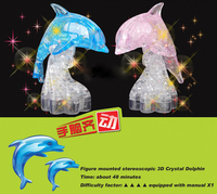 Dolphin model DIY 3d crystal puzzle