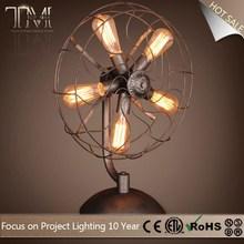 Vintage Light Fan Shape Industrial Loft table Lamp,classic desk lamp