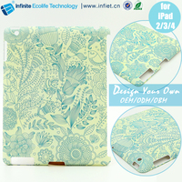 Plastic PC hard cell phone case for ipad 234 /Water transfer printing cell phone case