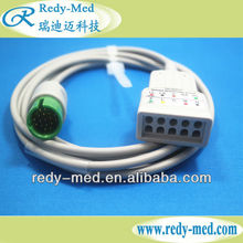 Spacelab ecg cable trunk with 5 leads, 17pin