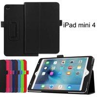 Flip Litchi Grain Leather Stand Cover Case For iPad Mini 4