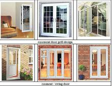 pvc glass door/pvc door with grill design/pvc casement door