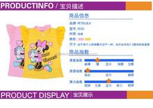 2015 nuovo camicia mickey per chldren 100% cotone t shirt di moda maglia a manica bambino estate usura esterna per la ragazza