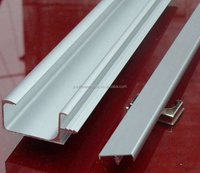 Customized silver anodized 6063 aluminum extrusion for kitchen cabinet door