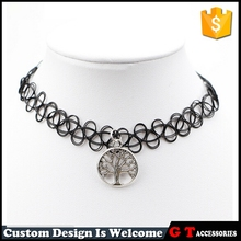 Hot Sale Fashion Vintage Handmade Braided Fishing Line Necklace Elastic, Tattoo Choker Necklace For Women