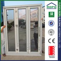 High quality wholesale UPVC frame three panels bedroom door prices
