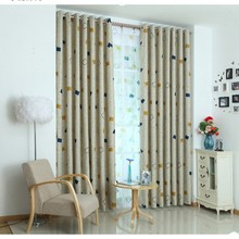 2014 Insulated ready made polyester printed blackout curtain drapery