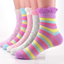 100% cotton women girl custom made happy lady kids custom socks from china socks facotory