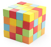 Early Intelligence Education Color Wood Blocks Authentic Standard Wooden cube for Children Gift