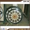 new design round nature marble medallion,marble waterjet medallion mosaic tile floor medallion and mosaic