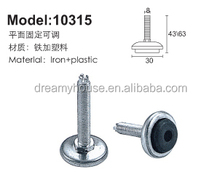 plastic adjustable feet / metal leveling feet