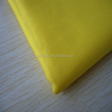 DX hot sales yellow 100% cotton antifire fleece fabric and water repellent fabric coal and oil worker
