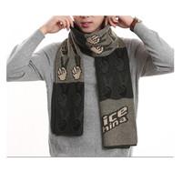 High quality cheap price long length men british style printed muffler stylish men scarf