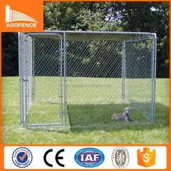 Heavy duty galvanized dog run kennels/ large dog run kennels
