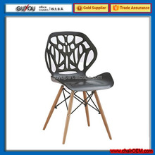GY601 Fashional Wooden Leg Plastic Dining Room Furniture Dining Chair China Supplier