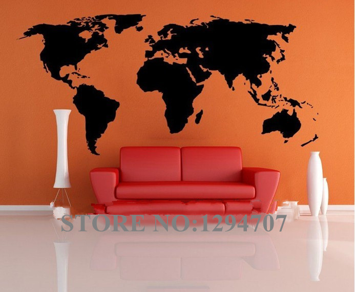 200x90cm best selling big global vinyl wall sticker home decor