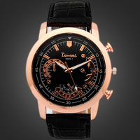 2015 Men Fashion Watches Luxury Brand Casual PU Leather Quartz Watch Army Military Antique Dress Wristwatch