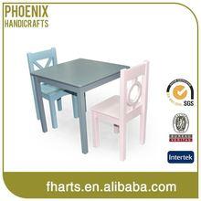 Oem de madera de dibujos animados mesa y silla para los niños