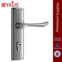 Brass dimple key cylinder house internal door handle and lock sets
