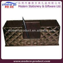 PVC leather desk organizer set stationery box