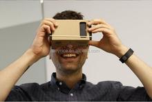 DIY Google Cardboard Cellphone Virtual Reality 3D Glasses Glass for Cellphones Smartphones