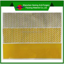 yellow total transfer tamper evident printing material
